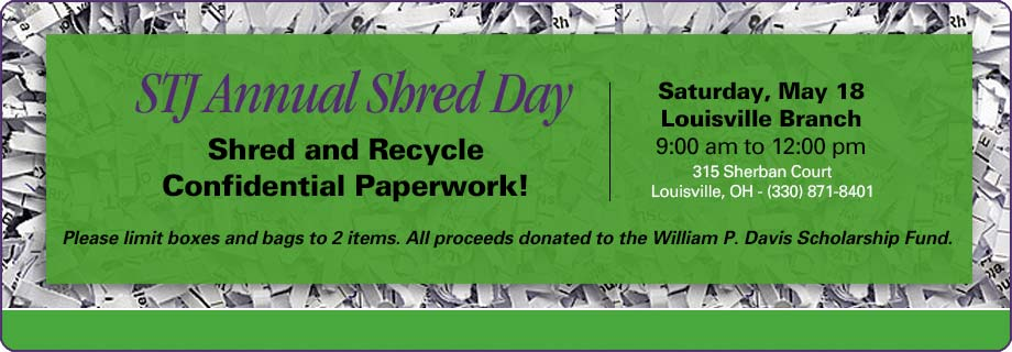 Annual Shred Day, Shred and Recycle Confidential Paperwork